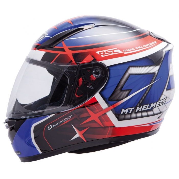 MT Helmets REVENGE Replica GP blue/red/black