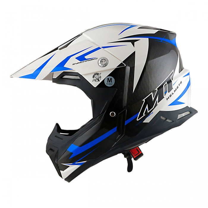 MT Helmets Synchrony Steel black/white/blue