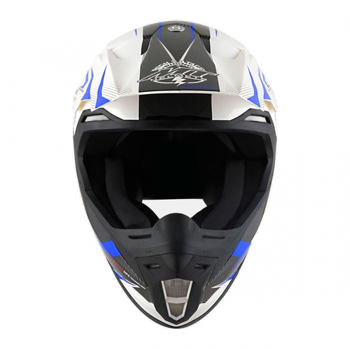 Купить украина MT Helmets Synchrony Steel black/white/blue