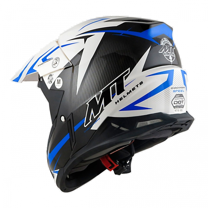 MT Helmets Synchrony Steel black/white/blue купить