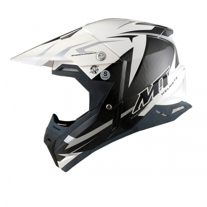 MT Helmets Synchrony Steel black/white/grey цена