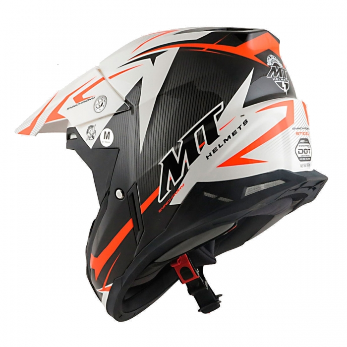 MT Helmets Synchrony Steel black/white/orange цена