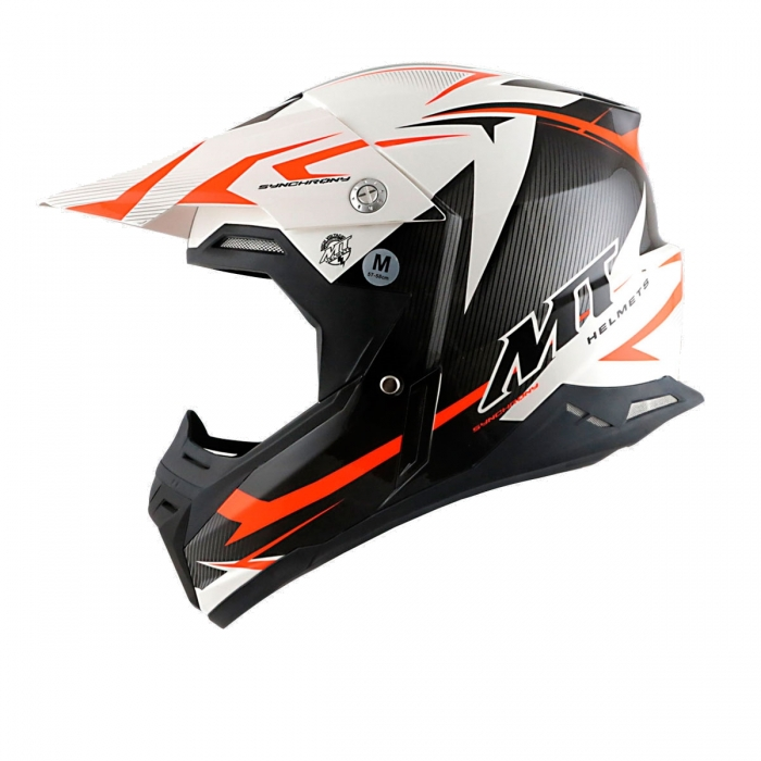 MT Helmets Synchrony Steel black/white/orange