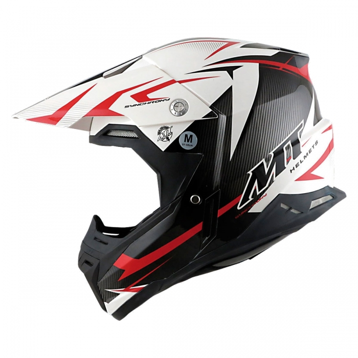 MT Helmets Synchrony Steel black/white/red