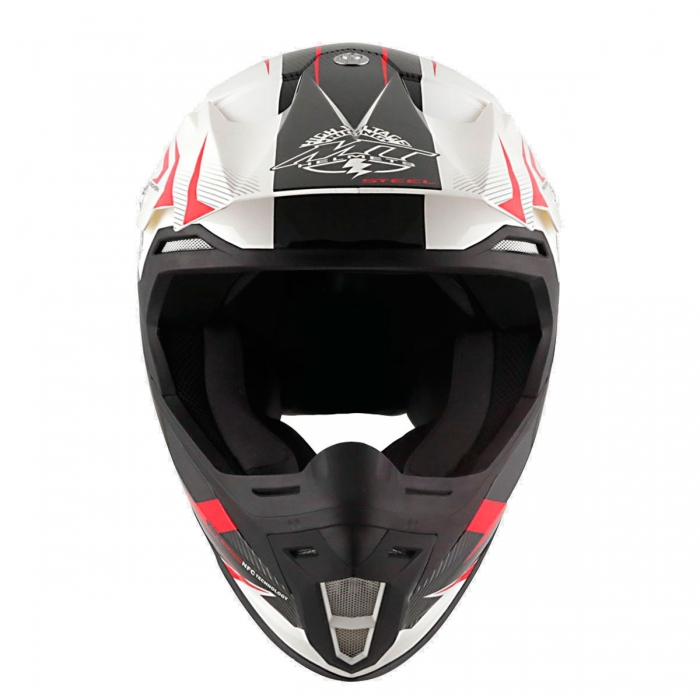 Купить MT Helmets Synchrony Steel black/white/red