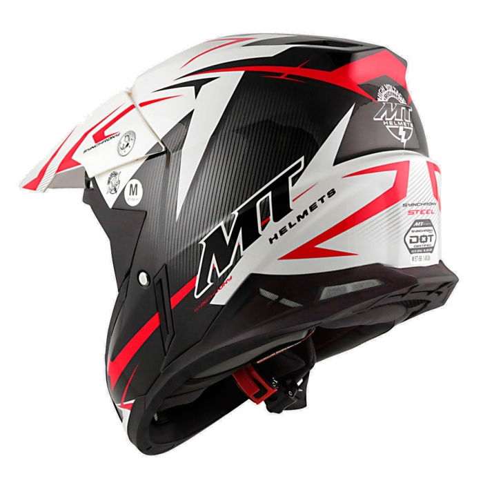 MT Helmets Synchrony Steel black/white/red киев
