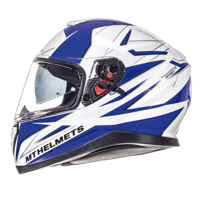 MT Helmets Thunder 3 Effect gloss pearl white/deep blue