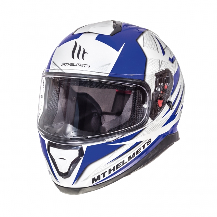 Купить интеграл MT Helmets Thunder 3 Effect gloss pearl white/deep blue