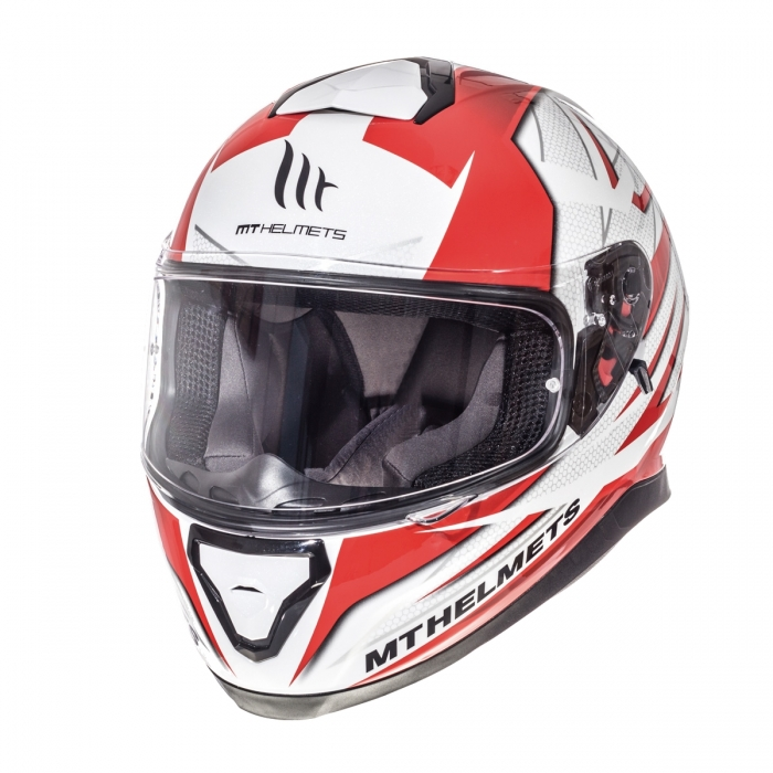 MT Helmets Thunder 3 Effect gloss pearl white/red цена