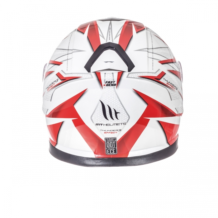 MT Helmets Thunder 3 Effect gloss pearl white/red купить днепр