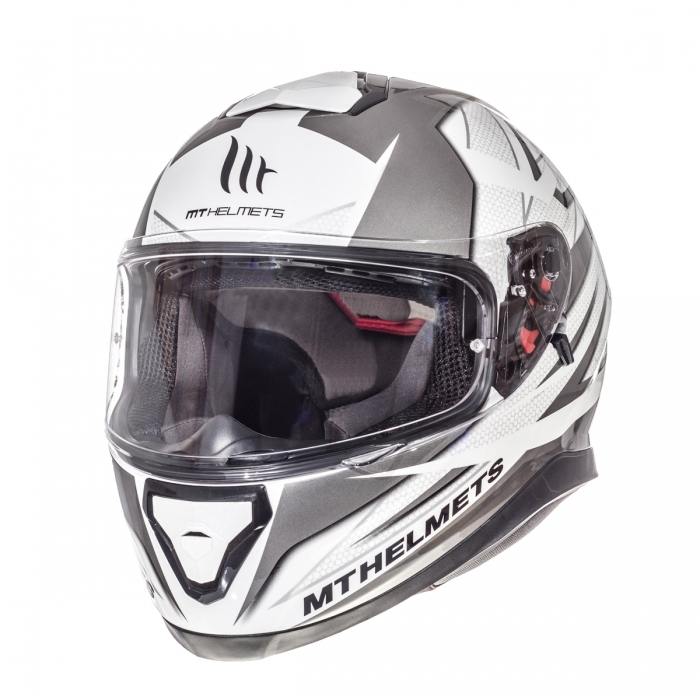 MT Helmets Thunder 3 Effect gloss pearl white/silver anthracite купить