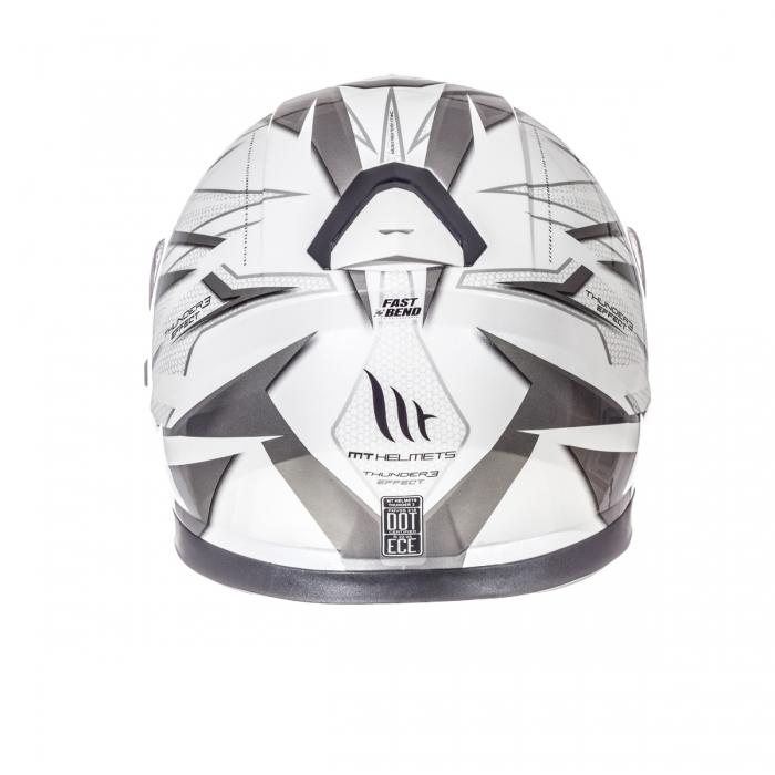 Шлем MT Helmets Thunder 3 Effect gloss pearl white/silver anthracite купить днепр