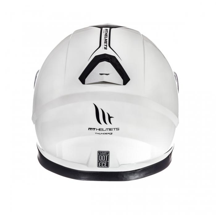 MT Helmets Thunder 3 Solid pearl white купить украина