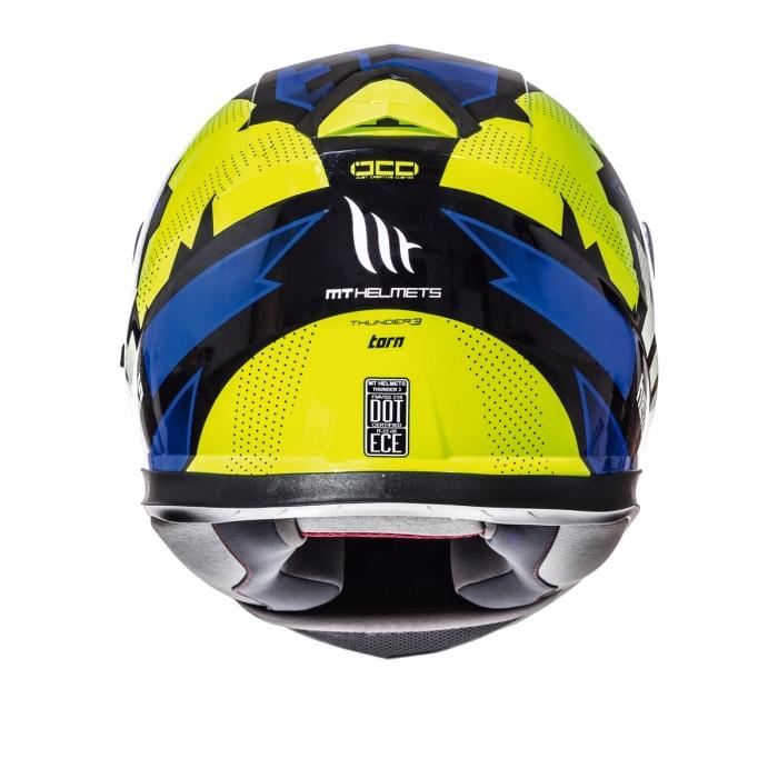MT Helmets Thunder 3 Torn gloss fluor yellow/blue цена