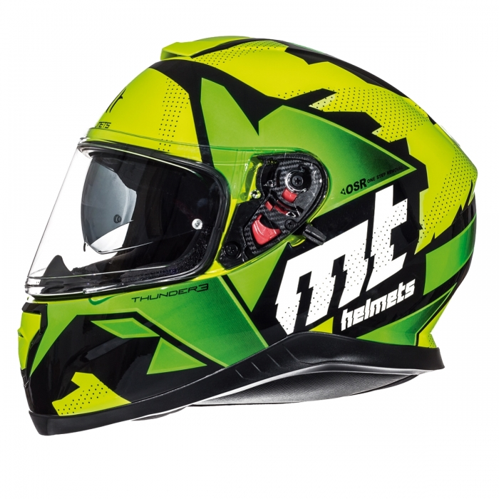 MT Helmets Thunder 3 Torn gloss fluor yellow/fluor green