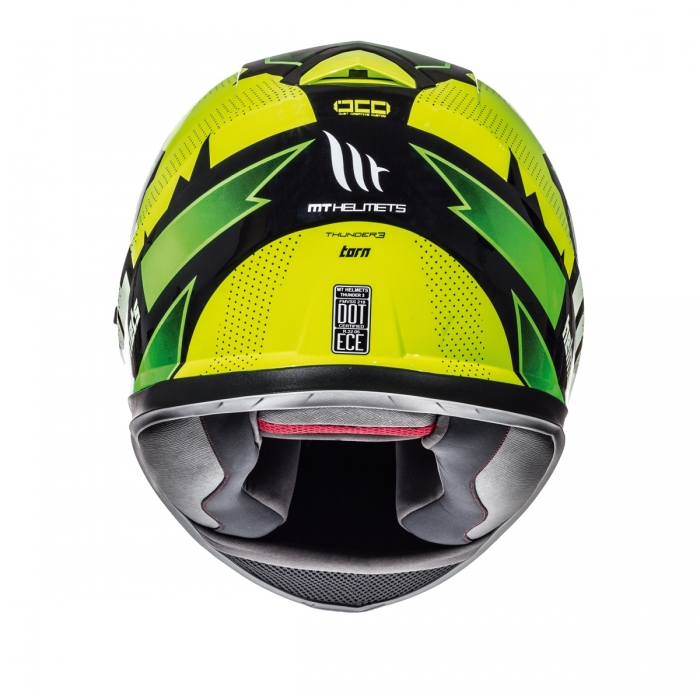 MT Helmets Thunder 3 Torn gloss fluor yellow/fluor green цена