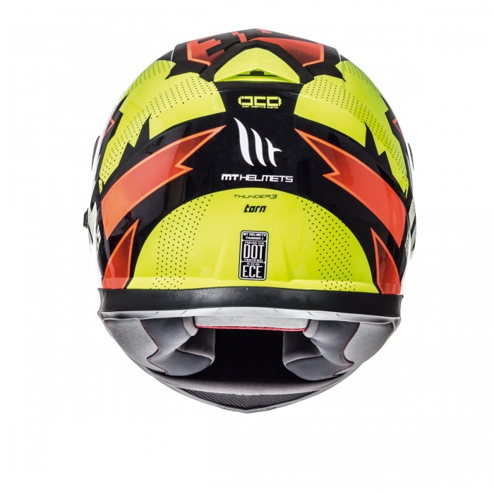 MT Helmets Thunder 3 Torn gloss fluor yellow/fluor orange цена