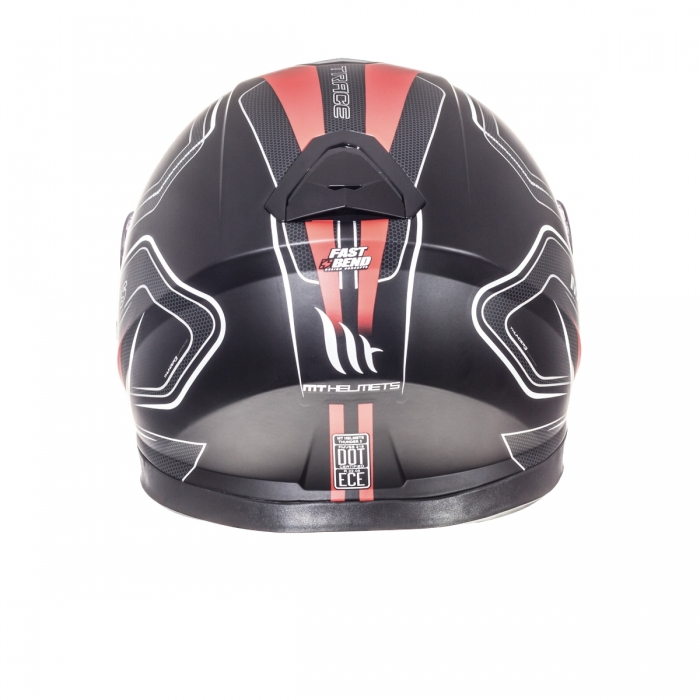 MT Helmets Thunder 3 Trace matt black red цена
