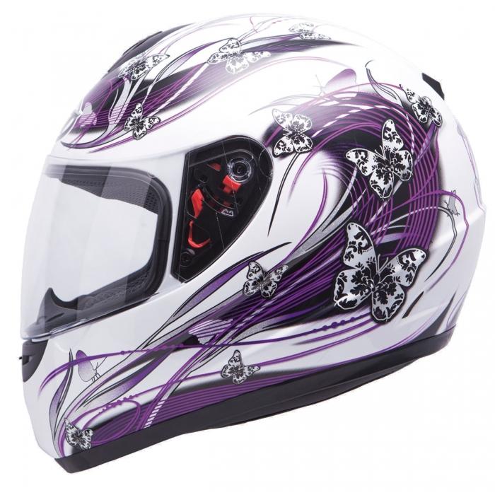 MT Helmets Thunder Butterfly pearl white