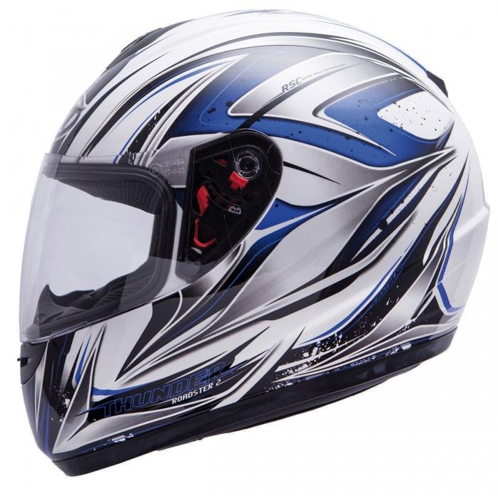 MT Helmets Thunder Roadster II white/black/blue
