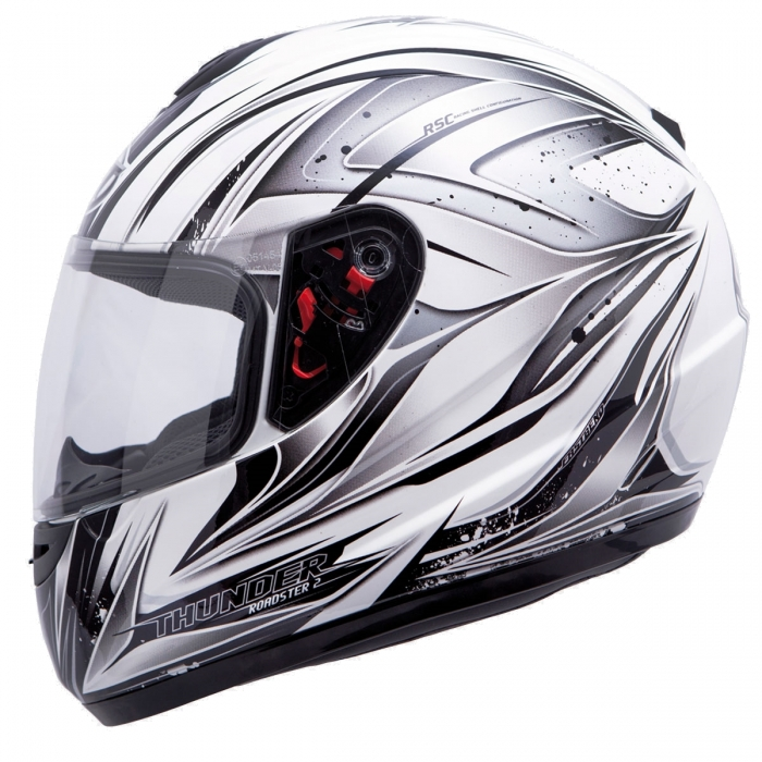 MT Helmets Thunder Roadster II white/grey