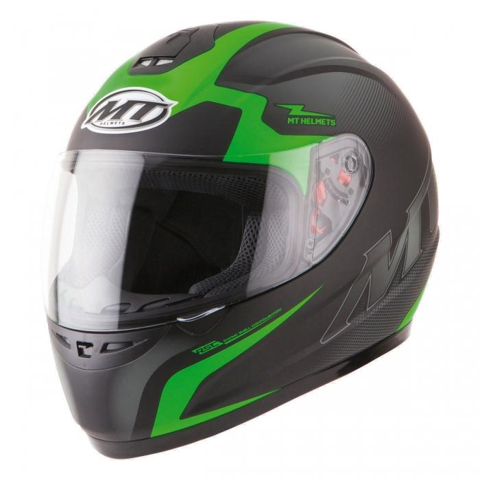 MT Helmets Thunder Squad matt green/fluo