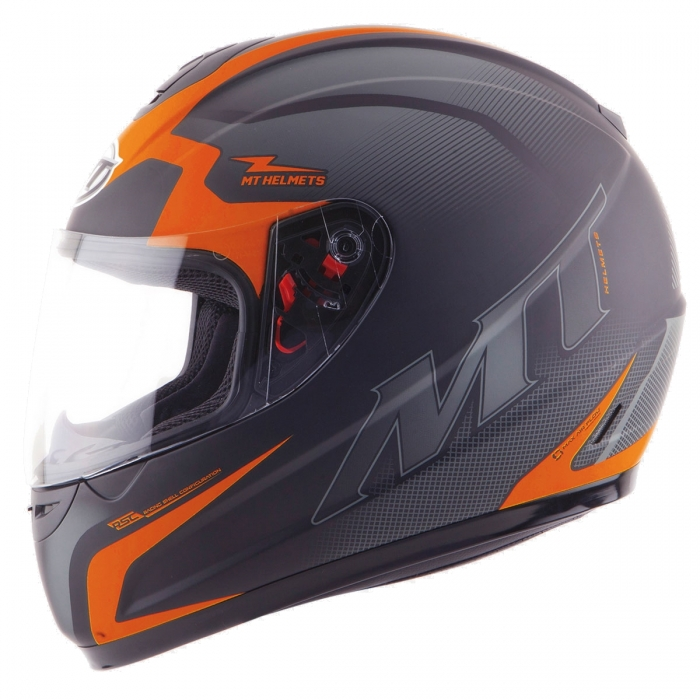 MT Helmets Thunder Squad matt orange/fluo