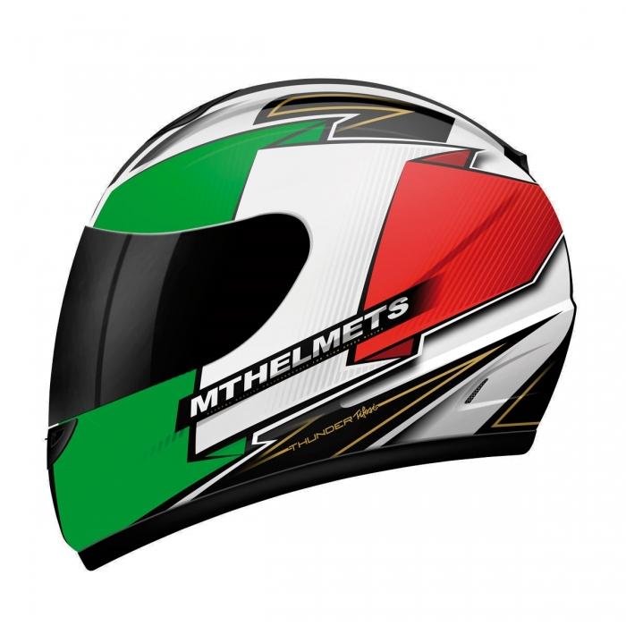 MT Helmets Thunder Tifosi white