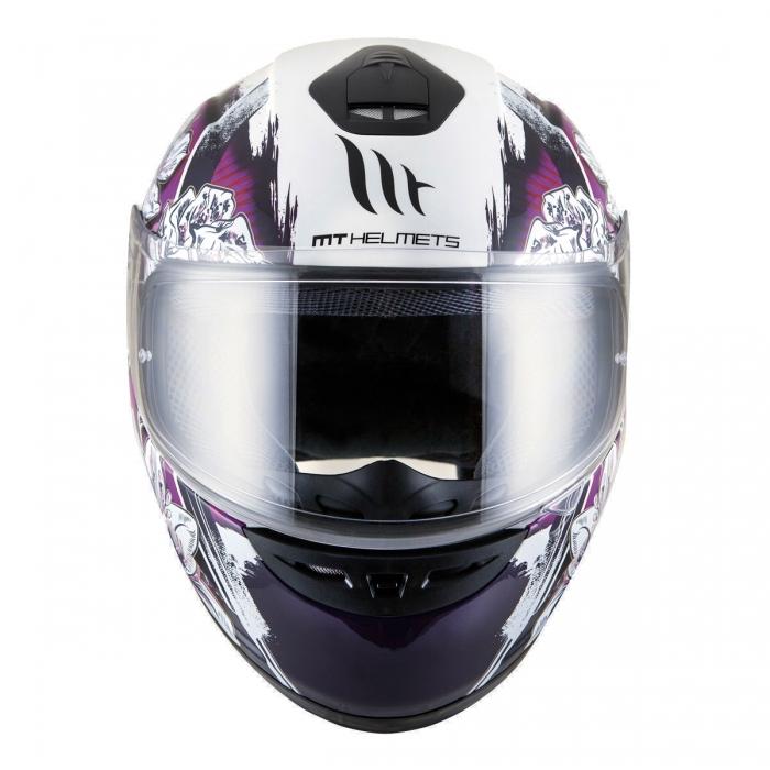 MT Helmets Thunder Wild Garden gloss pearl white/purple