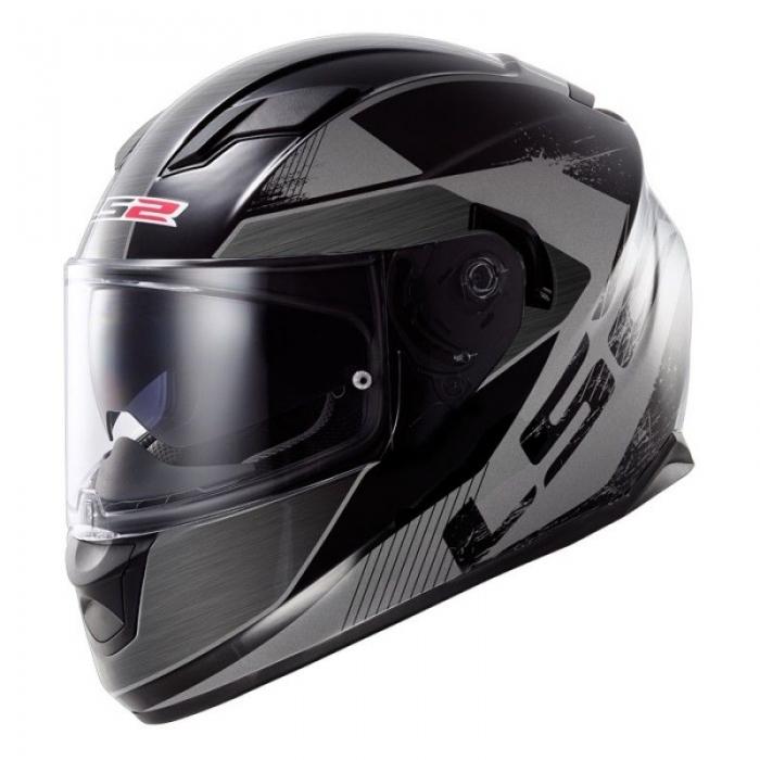 Шлем LS2 FF320 Stream Stinger Black Titanum