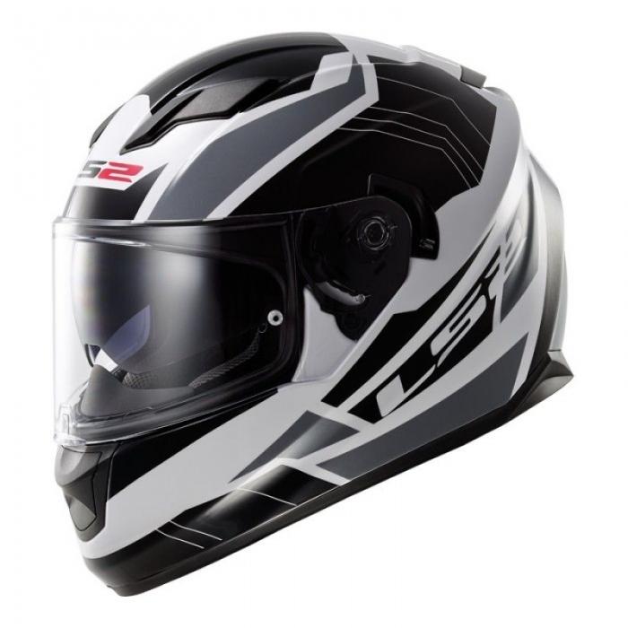 Шлем LS2 FF320 Stream Omega White Black Titanum