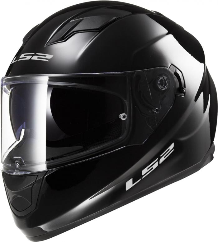Шлем LS2 FF320 Stream Solid Black Gloss