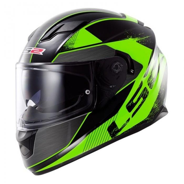 Шлем LS2 FF320 Stream Stinger Fluo Black Green