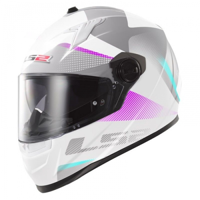 Шлем LS2 FF322 Concept II Tyrrell White Pink
