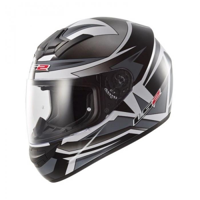 Шлем LS2 FF352 Rookie Gamma Black-Titanum