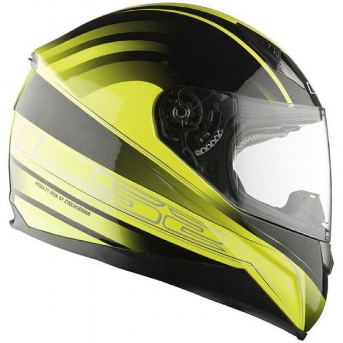 Шлем LS2 FF384 Iron Hi-Vis Yellow Black
