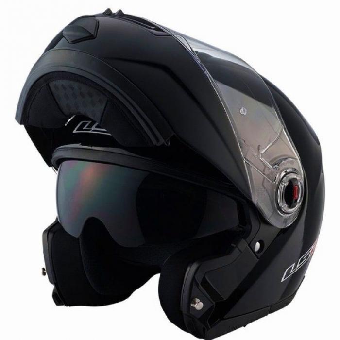 Шлем Модуляр LS2 FF386 Ride Solid Black Gloss