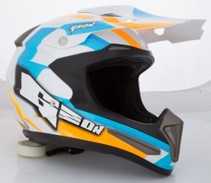 Шлем GEON 615 Кросс Razor (fiberglass) Orange/Blue