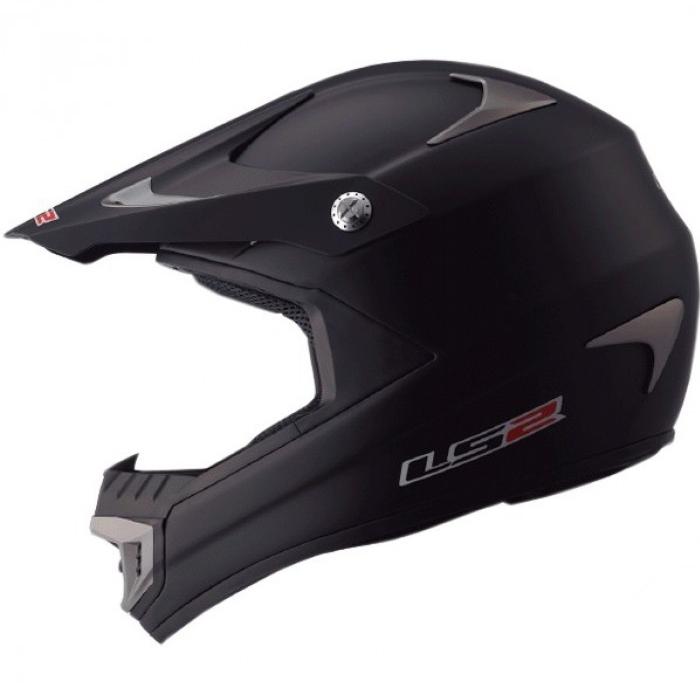 Кроссовый шлем LS2 MX433 Race Solid Black Matt