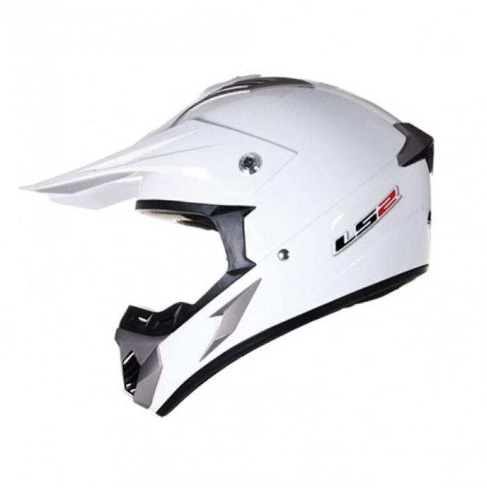 Кроссовый шлем LS2 MX433 Race Solid White Gloss