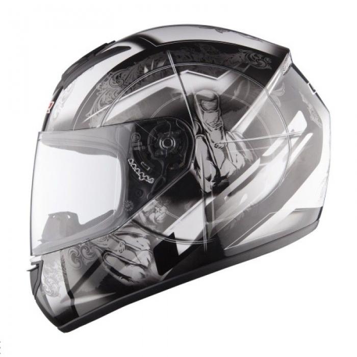 Шлем LS2 FF351 Rock Black-Silver Gloss