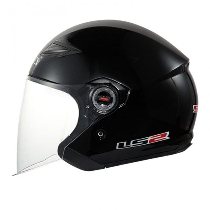 Открытый шлем LS2 OF569 Rock Black Gloss