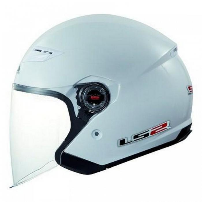 Открытый шлем LS2 OF569 Rock White Gloss