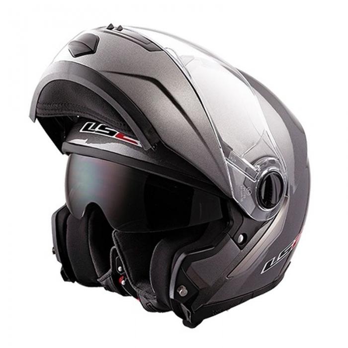 Шлем Модуляр LS2 FF386 Ride Solid Titanium Matt