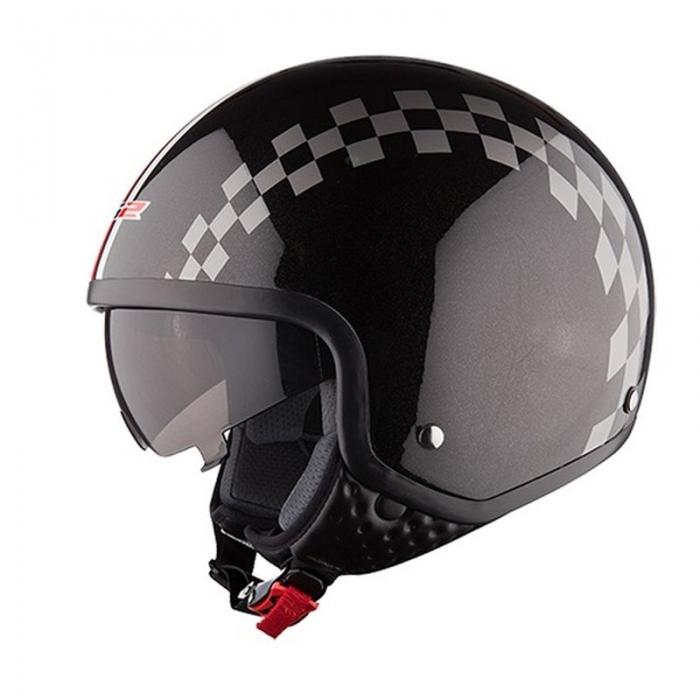 Открытый шлем LS2 OF561 Dinoco Black Gloss