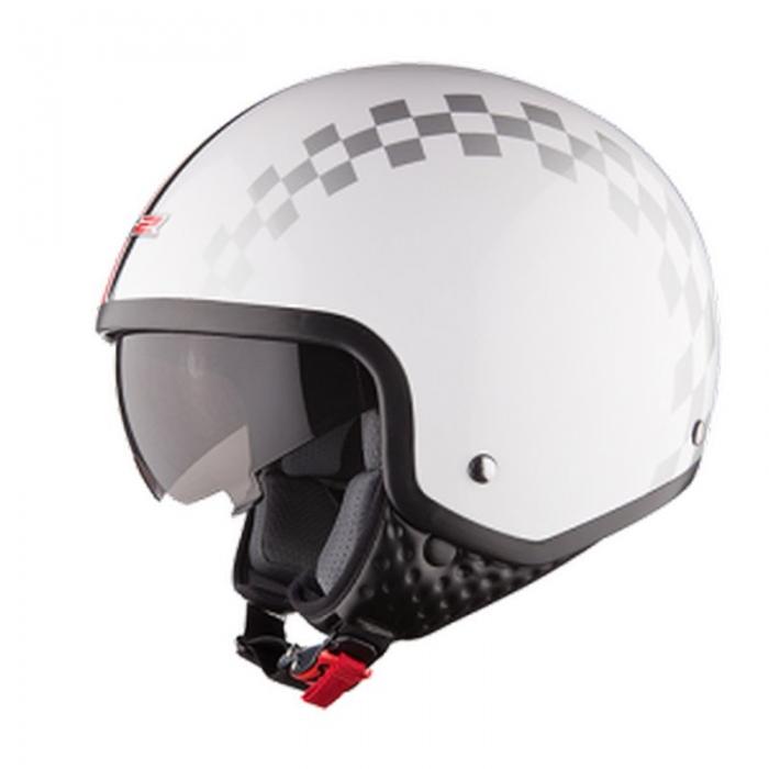Открытый шлем LS2 OF561 Dinoco White Gloss