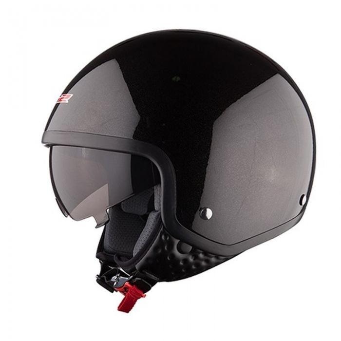 Открытый шлем LS2 OF561 Wave Black Gloss