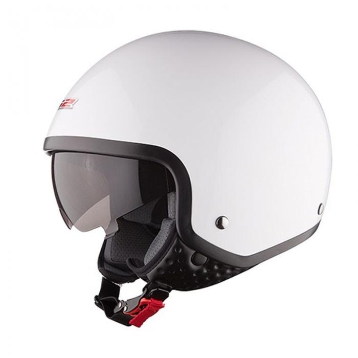 Открытый шлем LS2 OF561 Wave White Gloss