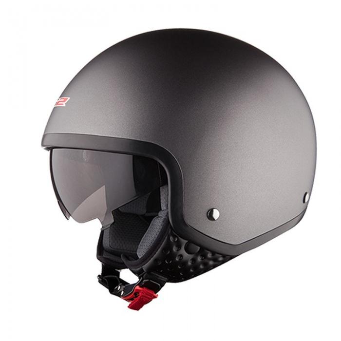 Открытый шлем LS2 OF561 Wave Matt Titanium