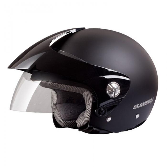 Открытый шлем LS2 OF518 Midway Solid Black Matt